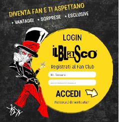login fan club vasco