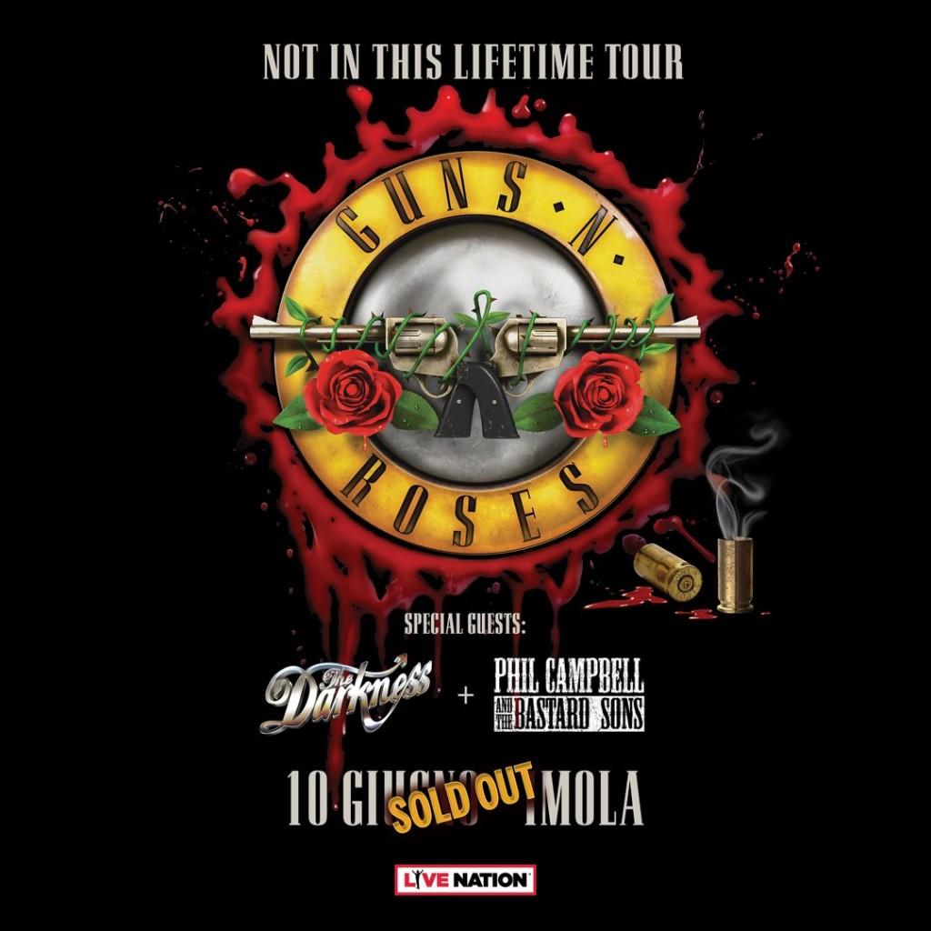 Guns N Roses Imola 10 giugno darkness phil campbell
